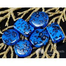 Mix Blu Nero Macchiato di Vetro ceco Grandi Perle Rave Colorato 10pcs per $ 2.39 da Czech Beads Exclusive