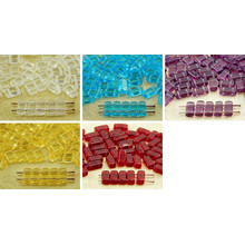 40pcs Crystal Flat Bricks Rectangle Bar 2 Two Hole Czech Glass Beads 8mm X 4mm for $2.63 from Czech Beads Exclusive