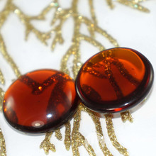 2pcs Clear Brown Czech Glass Cabochon Czech Glass Domes 24mm x 7mm for $2.37 from Czech Beads Exclusive