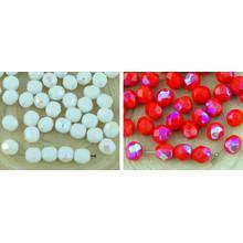 40шт Половина Круглый Граненый Огонь Полированные Бусины Чешские Стеклянные 6мм для $ 2.91 из Czech Beads Exclusive