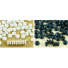 60pcs De Color Lentejas Plana Redonda Un Agujero Checa Perlas Vidrio 6mm para $ 2.4 de Czech Beads Exclusive
