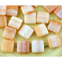 14pcs White Topaz Mix Tile One Hole Flat Square Czech Glass Beads 10mm for $2.42 from Czech Beads Exclusive