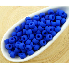 10g Matte Neon Blue UV Active Matubo 7/0 Czech Glass Large Hole Seed Beads for $3.89 from Czech Beads Exclusive