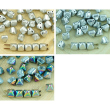 16pcs Piramide Stud 2 Due Fori Ceca Perle Di Vetro 6mm per $ 2.77 da Czech Beads Exclusive