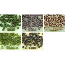 60pcs De Picasso Preciosa Bolita Diablo Dogbone Checa Perlas Vidrio 4 Mm X 6mm para $ 2.98 de Czech Beads Exclusive