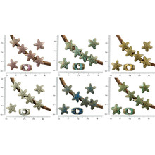 8pcs Antique Bronze Tone Patina Wash Large Hole European Pandora Style Dotted Star Starfish Sea Marine Charms Beads 12mm for $2.78 from Czech Beads Exclusive