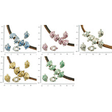 6pcs Antico Tono Argento Patina Di Foro Grande Foglia Europea Stile Pandora Charms Dispositivo Scorrimento Perline 8mm X 13mm per $ 2.68 da Czech Beads Exclusive
