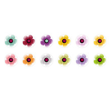 Runde Kuppel Tschechische Glas-Cabochons Blumen 203 für $ 7.29 von Czech Beads Exclusive
