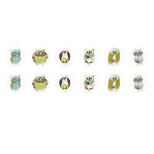 Handmade Round Domed Czech Glass Cabochons Owls Halloween for $6.92 from Czech Beads Exclusive