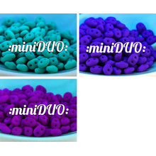 10g Uv Active Neon Opaco Miniduo Ceca Seed Beads Di Vetro A Due Fori Mini Duo 2mm X 4mm per $ 3.94 da Czech Beads Exclusive