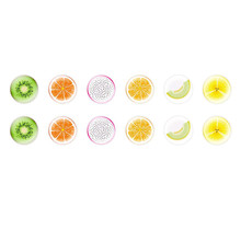 Handmade Round Domed Czech Glass Cabochons Sliced Fruits 2 for $6.89 from Czech Beads Exclusive