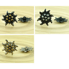 1pc Flower Czech Findings Matte Aged Antique Silver Bohemian Button Rustic Handmade 26mm for $3.19 from Czech Beads Exclusive
