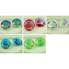 1pc Crystal Carved Fish Christmas Carp Marine Sea Handmade Czech Glass Buttons Size 10 23mm for $3.47 from Czech Beads Exclusive