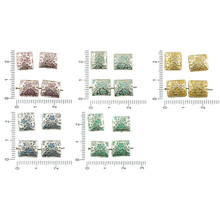 8pcs Antique Silver Tone Patina Wash Flat Flower Leaf Nature Puffed Rectangle Beads Two Sided 11mm X 9mm for $2.65 from Czech Beads Exclusive