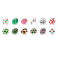 Handmade Round Domed Czech Glass Cabochons Forest Patterns 2 for $6.89 from Czech Beads Exclusive