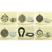 1pc Amulet Czech Findings Matte Aged Antique Silver Pendant Focal Rustic Handmade 30mm for $3.14 from Czech Beads Exclusive