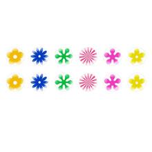 Runde Kuppel Tschechische Glas-Cabochons Retro Blumen für $ 7.29 von Czech Beads Exclusive