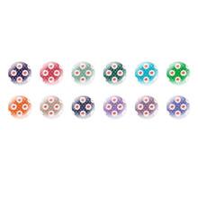Runde Kuppel Tschechische Glas-Cabochons Muster 132 für $ 7.29 von Czech Beads Exclusive