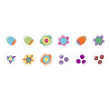 Handmade Round Domed Czech Glass Cabochons Flowers 81 for $7.29 from Czech Beads Exclusive