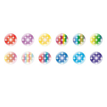 Handmade Round Domed Czech Glass Cabochons Patterns 118 for $7.29 from Czech Beads Exclusive