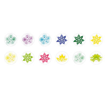 Handmade Round Domed Czech Glass Cabochons Flowers 26 for $6.93 from Czech Beads Exclusive