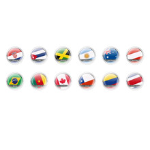 Handmade Round Domed Czech Glass Cabochons Flags 2 for $6.93 from Czech Beads Exclusive