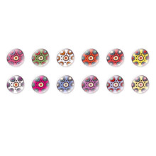 Handmade Round Domed Czech Glass Cabochons Flowers 125 for $6.93 from Czech Beads Exclusive