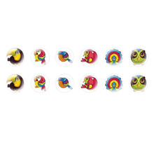 Handmade Round Domed Czech Glass Cabochons Cute Birds 2 for $6.93 from Czech Beads Exclusive