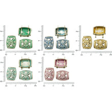 10pcs Antique Silver Tone Patina Wash Rectangle Hollow Flower Slider Spacer Bar Two 2 Hole Beads 14mm X 10mm for $2.72 from Czech Beads Exclusive