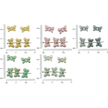 24pcs Antique Silver Tone Patina Wash Flat Dotted Butterfly Animal Beads Charms Two Sided Bohemian Metal Findings 11mm X 7mm for $2.69 from Czech Beads Exclusive
