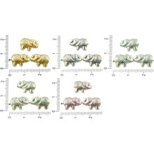 14pcs Antique Silver Tone Patina Wash Flat Small Elephant Animal Beads Charms Two Sided Bohemian Metal Findings 13mm X 9mm for $2.7 from Czech Beads Exclusive