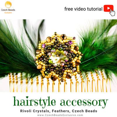 3fe87f350d41 DIY Tutorial Gratuito de Cuentas Peinado de Accesorios de Plumas
