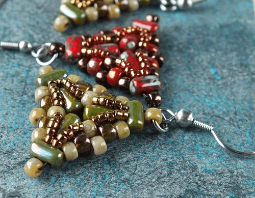 ff7f375df Czech Glass Two Hole Rulla Beads - ADA Beaded Earrings Free Tutorial (PDF)