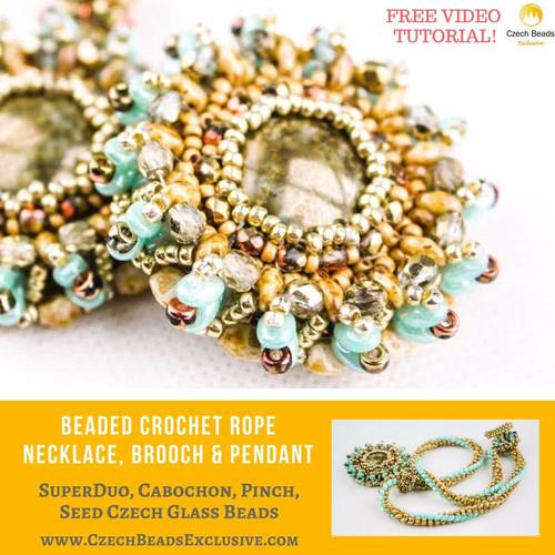 Superduo Cabochon Pinch Seed Czech Glass Beads Beaded Crochet