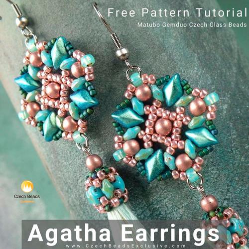 abb098743 Blog :: News! :: Agatha Earrings Free Pattern Tutorial - Czech Glass ...